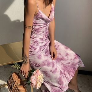 NWT Purple Tie Dye Midi Dress